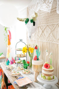 modern fiesta dessert table margarita + sangria bar for diego's first fiesta | created by: the love designed life | pc: dream photography studio