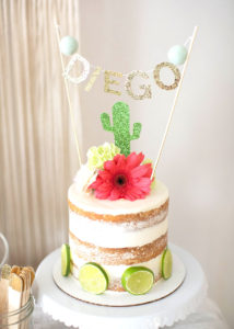 modern fiesta naked cake margarita + sangria bar for diego's first fiesta | created by: the love designed life | pc: dream photography studio