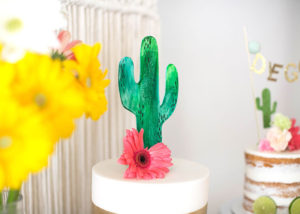 a saguaro cactus cake! margarita + sangria bar for diego's first fiesta | created by: the love designed life | pc: dream photography studio