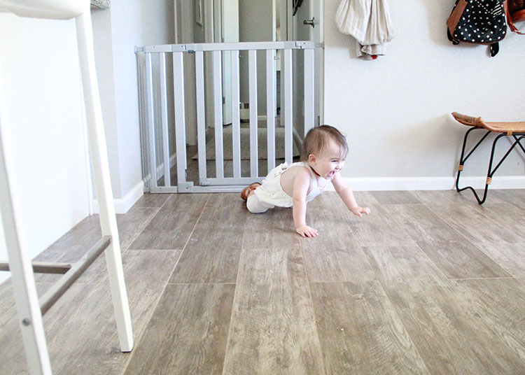 crawling baby getting into everything! | the love designed life