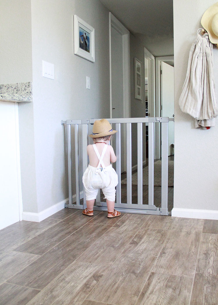 cute baby bum at the gate | the love designed life