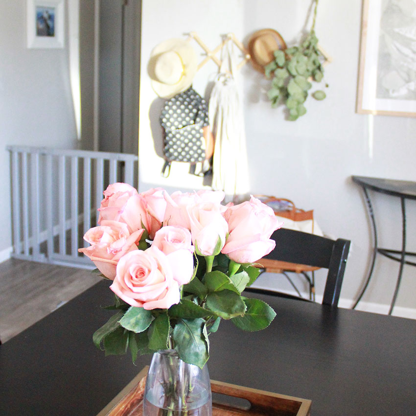 late afternoon sunshine on roses | the love designed life