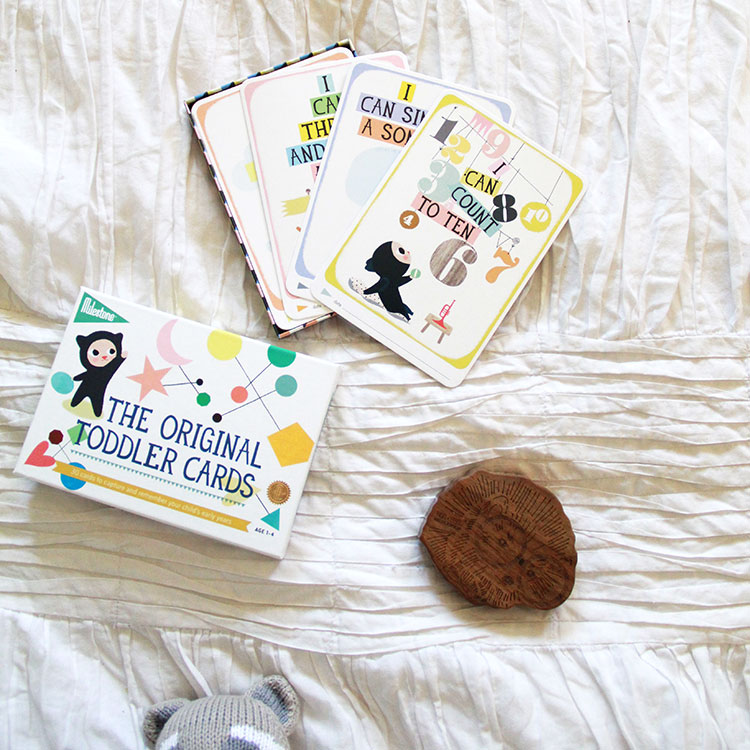 toddler cards from milestone baby and rattle by finn + emma | the love designed life