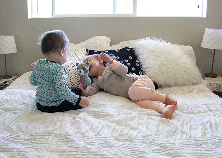 sweet snuggle sesh in organic cotton pajamas | the love designed life