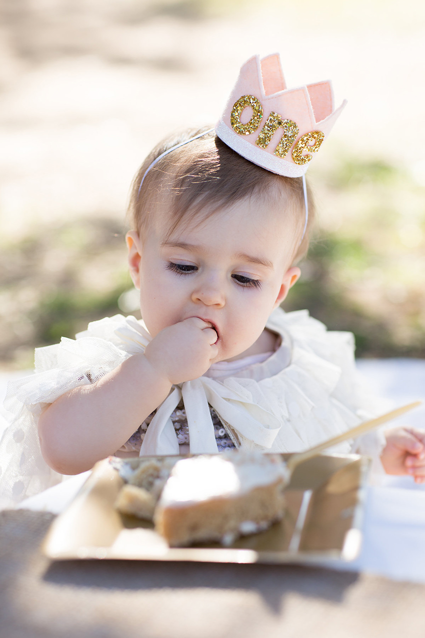 sweet baby girl and her little blue olive crown | the love designed life