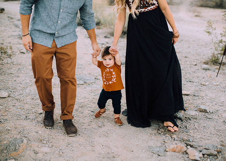 sweet baby boy almost ready to walk | fall family desert photos | thelovedesignedlife.com