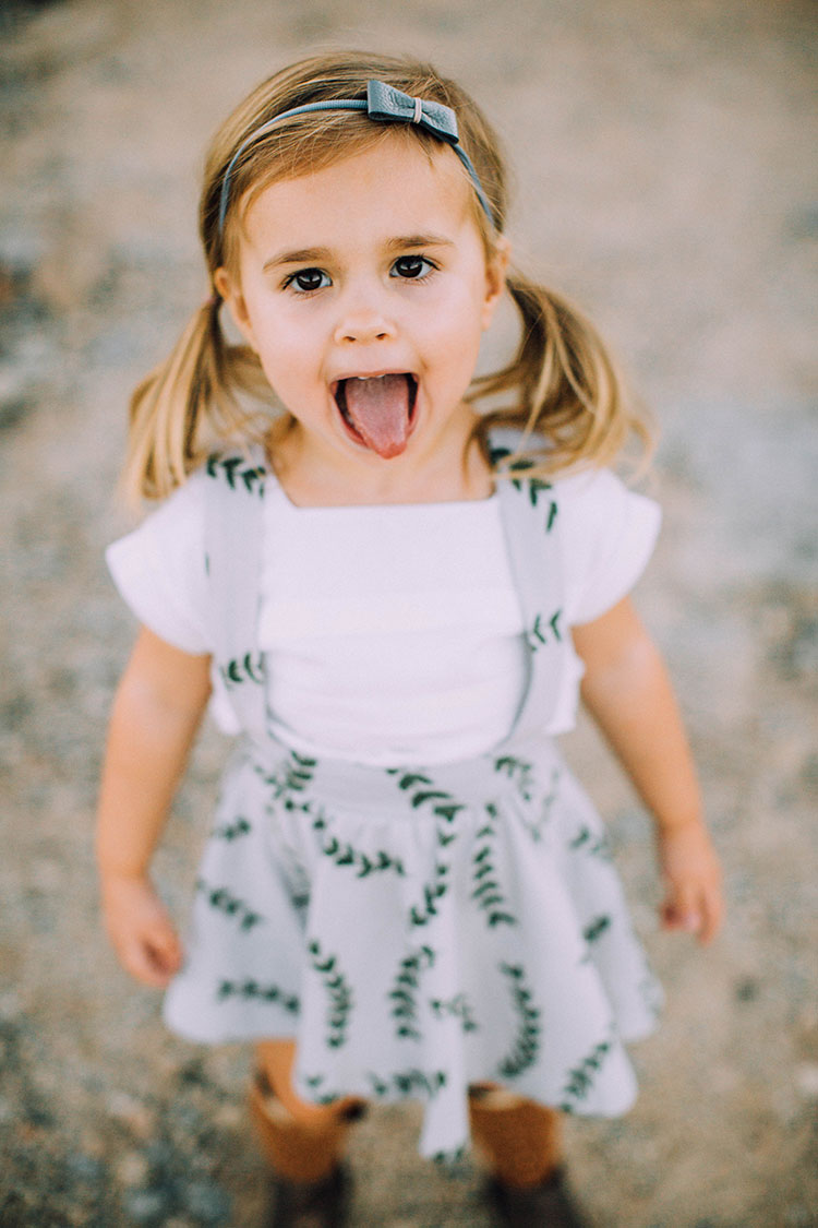 silly sweet girl in fall family desert photos | thelovedesignedlife.com
