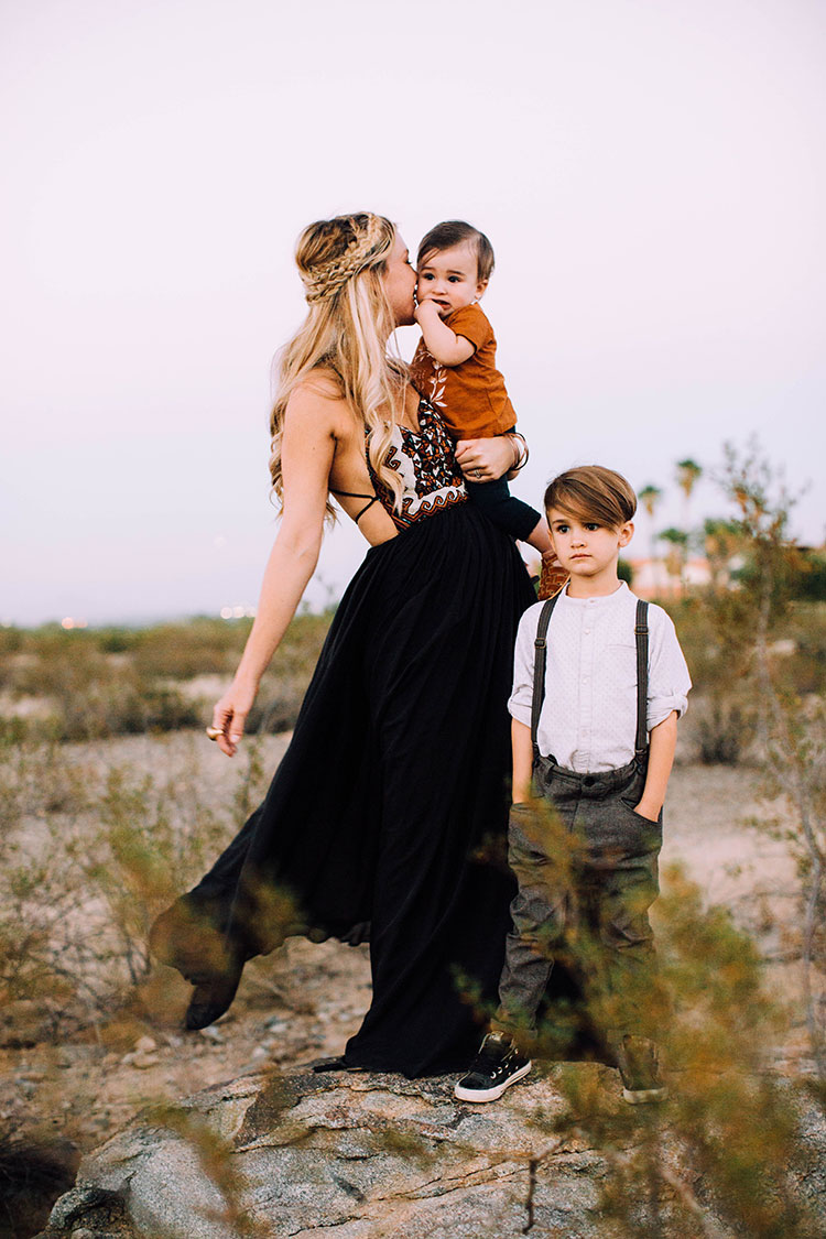 mama + boys | desert fall family photos | thelovedesignedlife.com