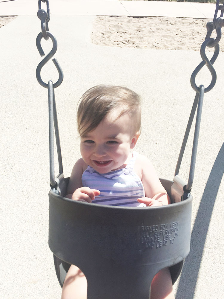 swinging in the park is our favorite in fall | the love designed life