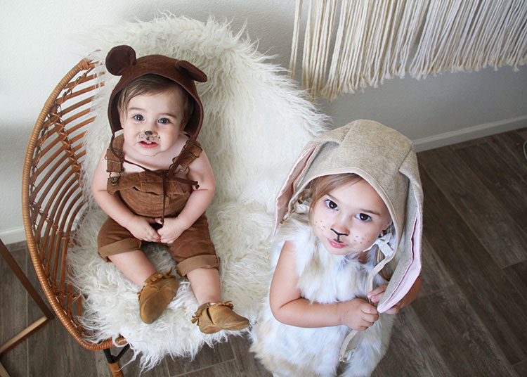 love this brother bear and sister bunny pair of costumes | thelovedesignedlife.com