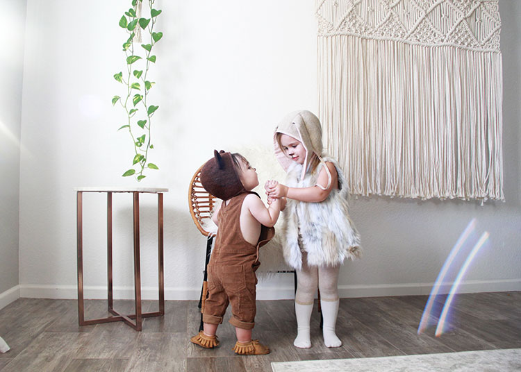 sibling woodland creature costume love | thelovedesignedlife.com