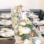 how to create a festive tablescape, when to use invitations and more! | thelovedesignedlife.com