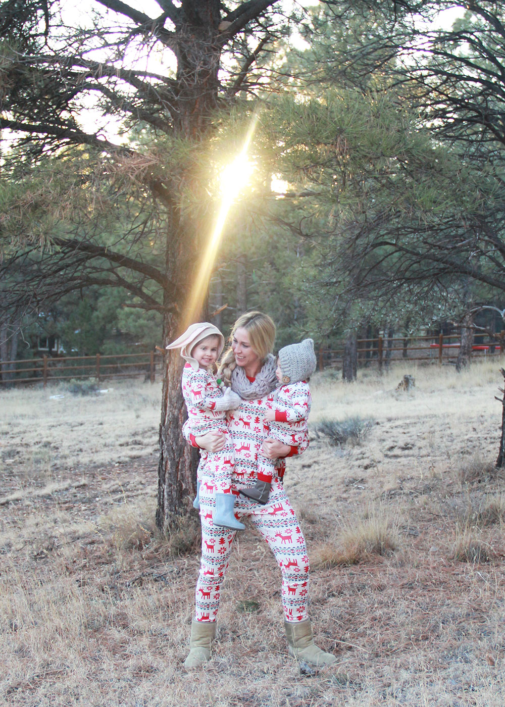 baby wrangling and matching jammies | thelovedesignedlife.com