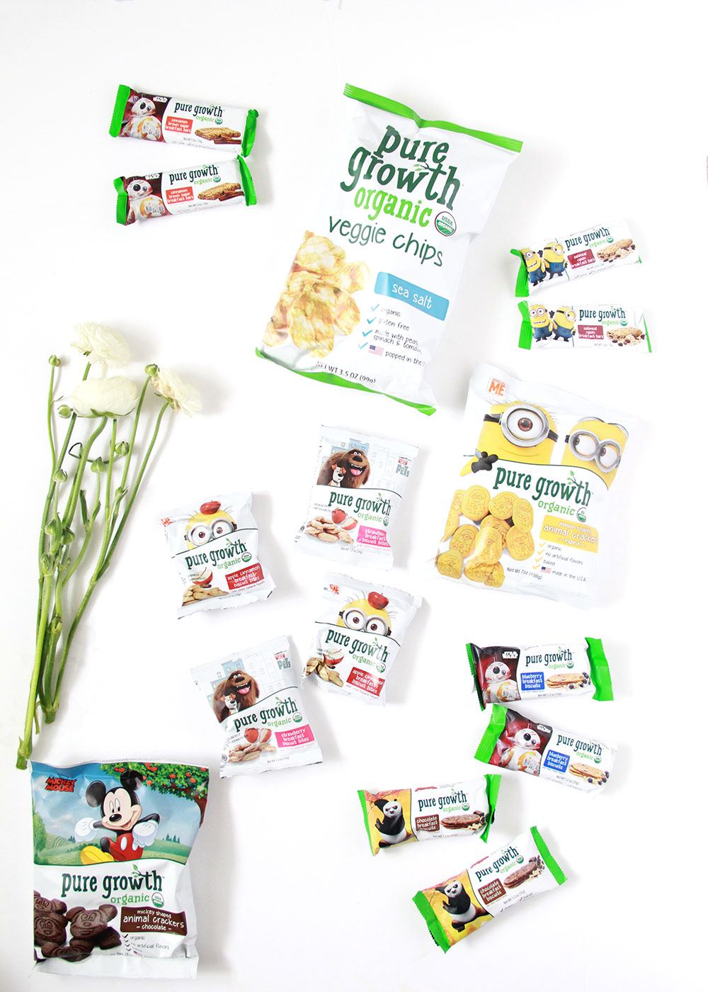 my kids love all the disney characters on the pure growth organic snacks! | thelovedesignedlife.com