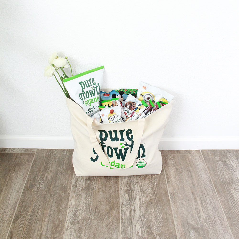 win a prize package of some of pure growth organics best snacks! follow @thelovedesignedlife on instagram for more info!