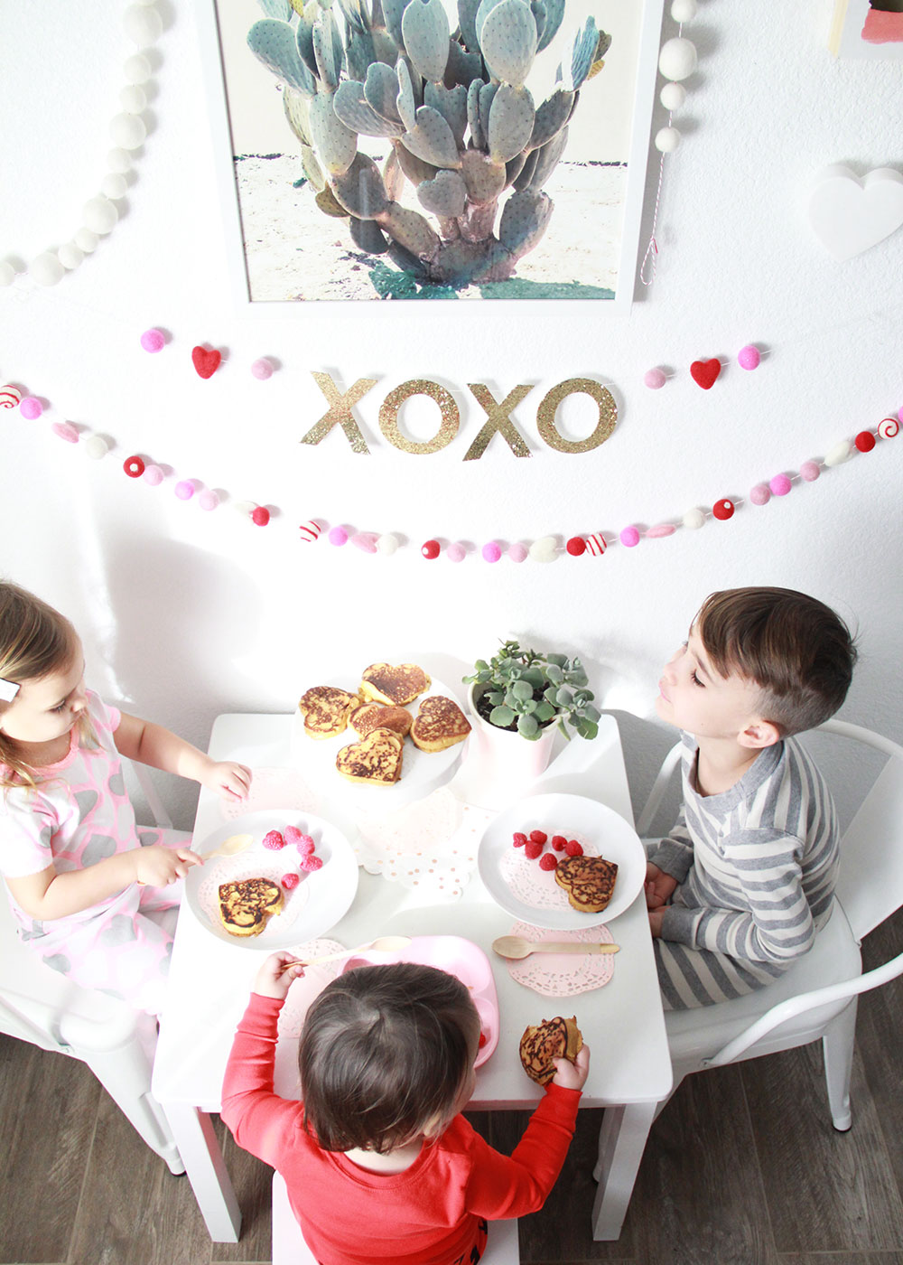 valentine's day breakfast for the kids! | thelovedesignedlife.com