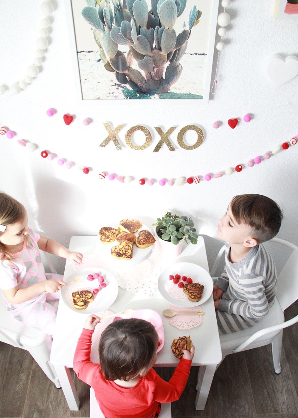 valentine's day breakfast for the kids! | thelovedesignedlife.com