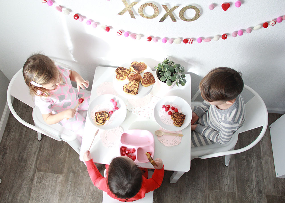 a sweet little valentine's day breakfast for kids. | thelovedesignedlife.com