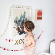 checking out our new cactus from @minted | thelovedesignedlife.com