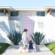 me + my girl in front of #thatpinkdoor in palm springs, california   thelovedesignedlife,cin
