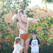 me + my babes, poolside in palm springs | thelovedesignedlife.com