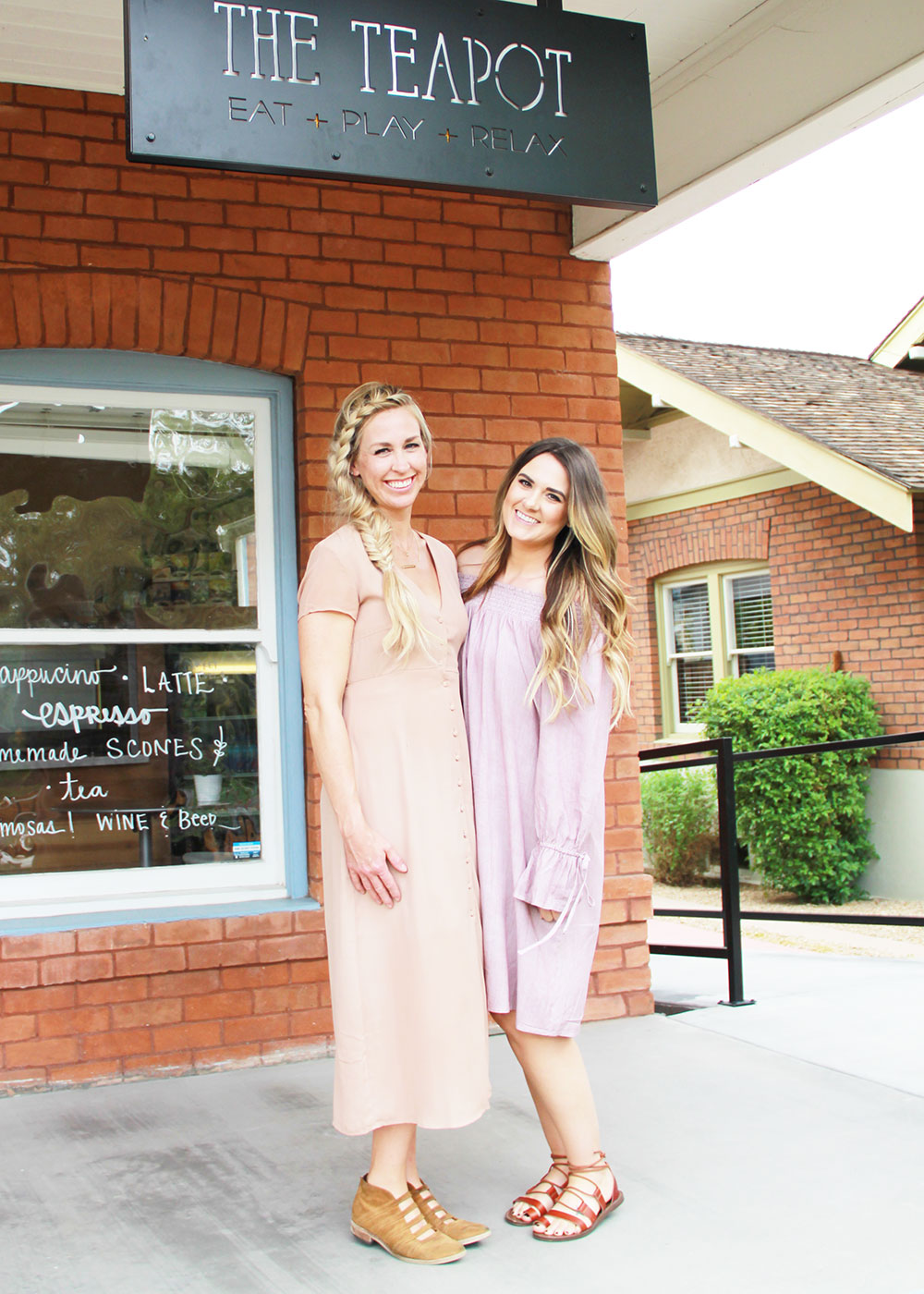 my girl ashley @sunshineandlullabies and me at the teapot in phoenix   thelovedesignedlife.com