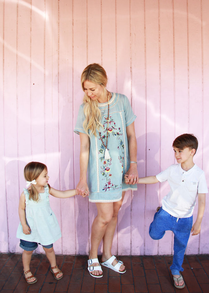spring break for the kids this week and spring outfits to match! | thelovedesignedlife.com