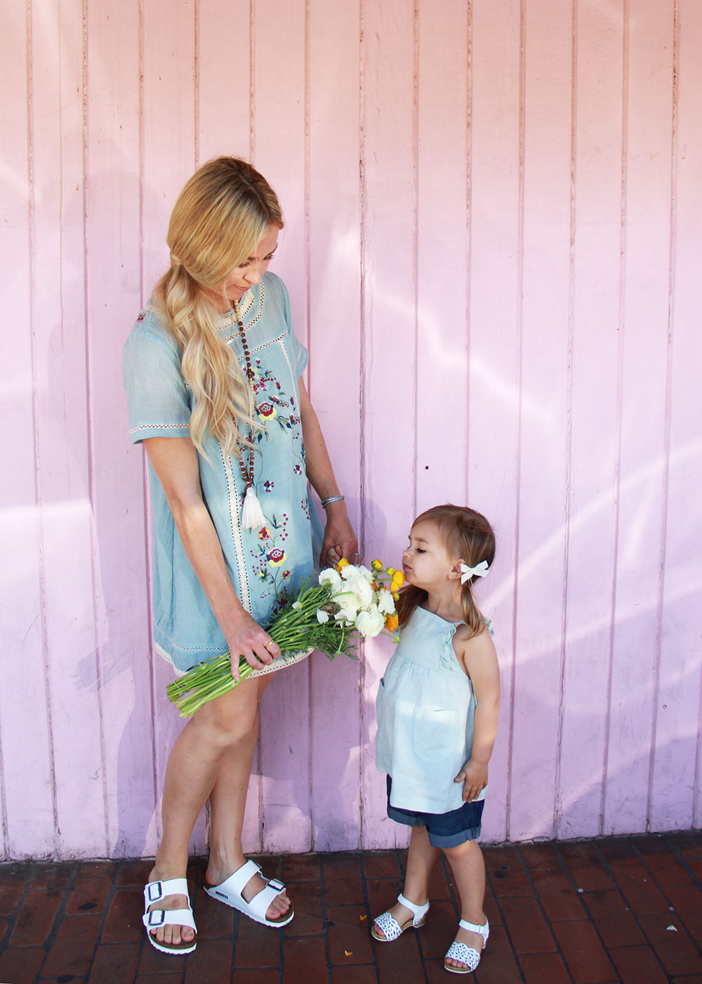 stop and smell the spring flowers! mama + mini looks on th blog by @thelovedsignedlife