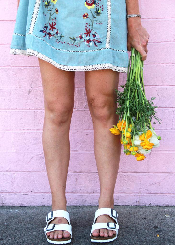 hooray for shorter hemlines, sandals, flowers, and spring break!   thelovedesignedlife.com