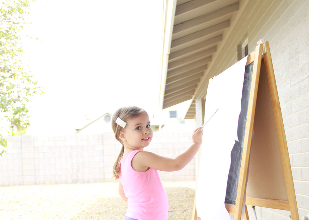 my little aritste, helping me paint | thelovedesignedlife.com