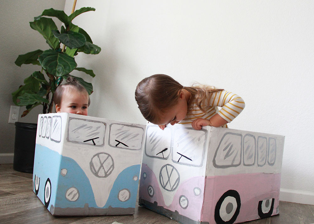 checking out the vw bus box car craft | thelovedesignedlife.com