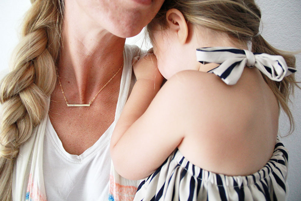 sweet mama + girl! this necklace is the perfect mother's day gift!   thelovedesignedlife.com