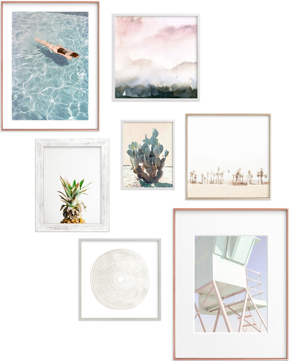 gallery wall inspiration with minted art by thelovedesignedlife.com