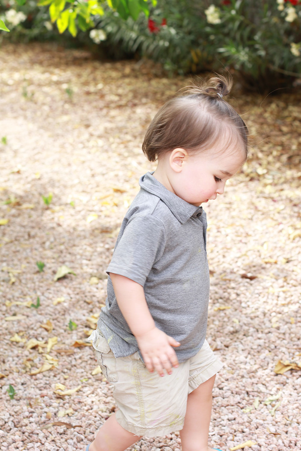 my sweet baby boy collecting lemons in our backyard at our new home | thelovedesignedlife.com