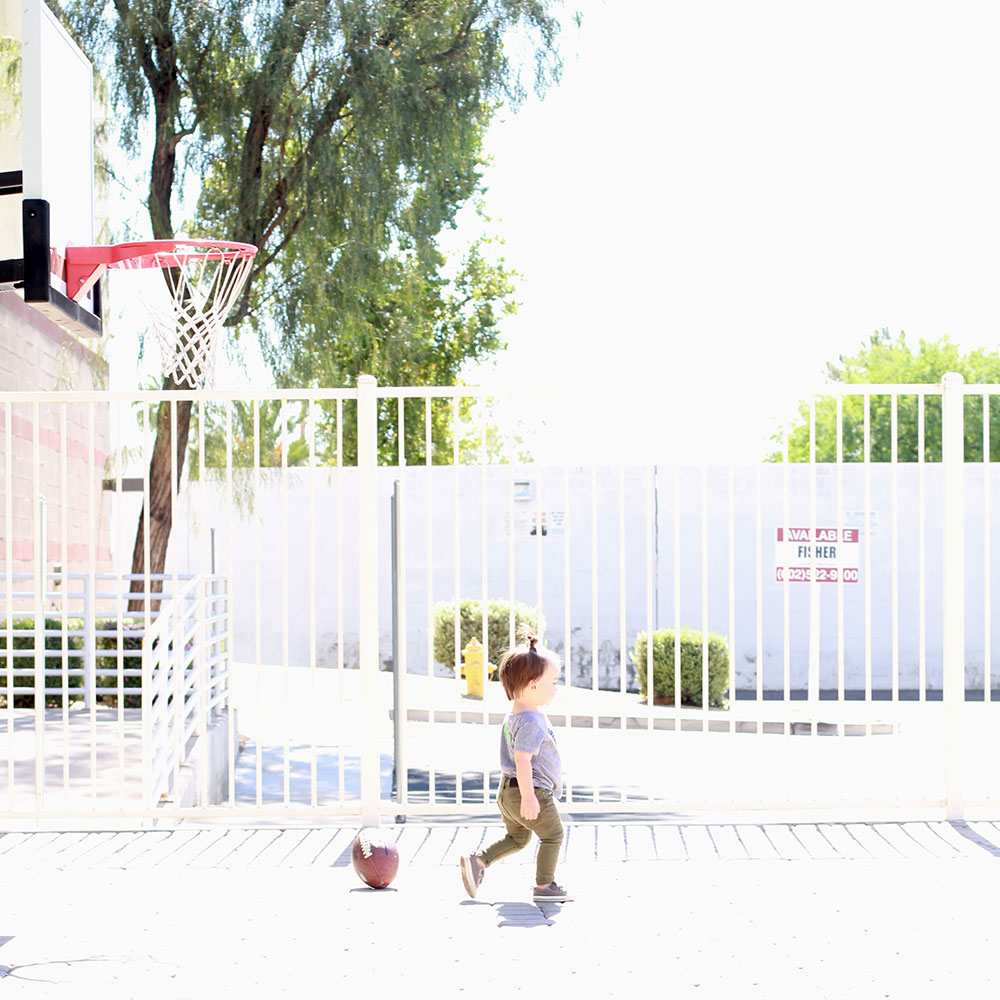 once he found the basketball hoop, he was happy | thelovedesigendlife.com