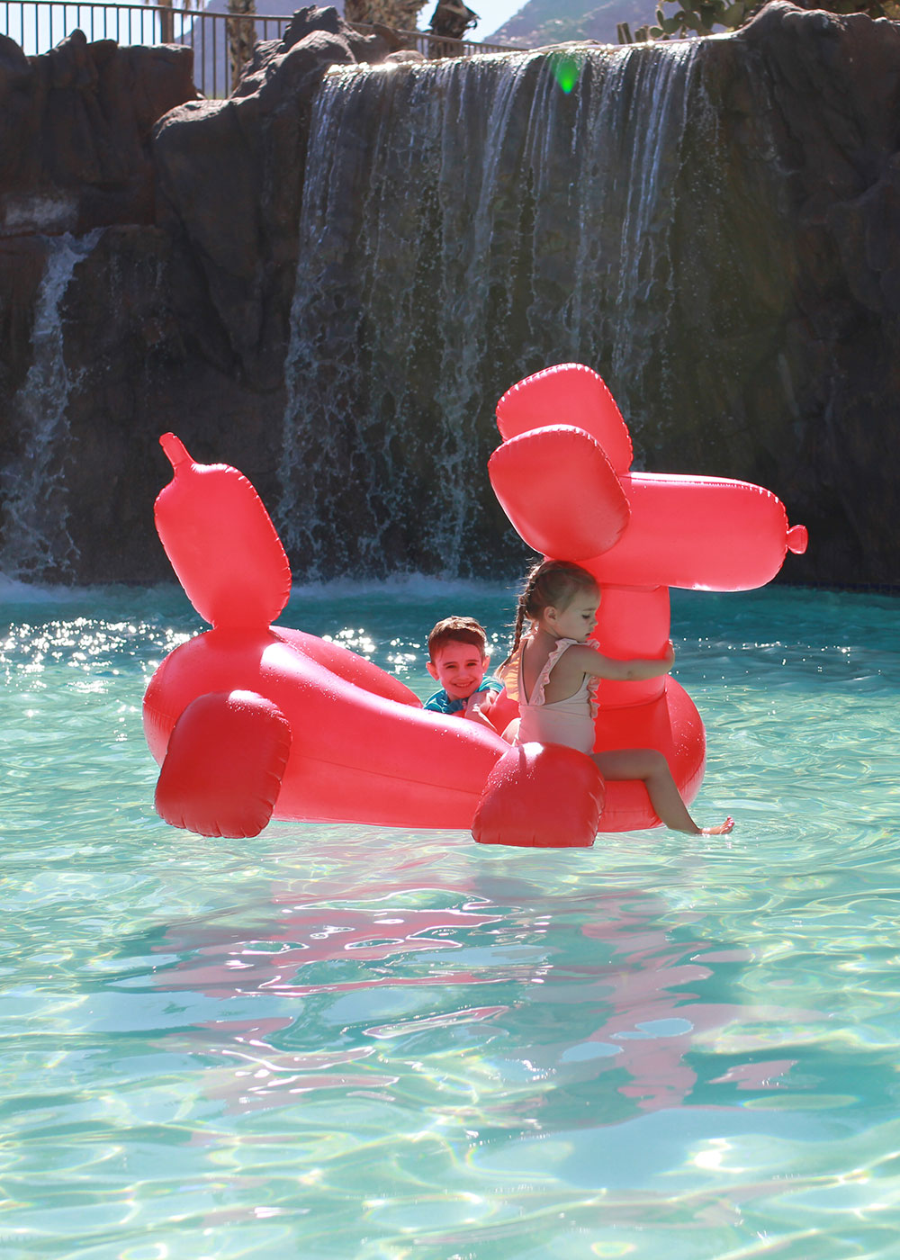 omg how cute is the balloon dog floatie?? the kids loved it at the river ranch water park! | thelovedesignedlife.com