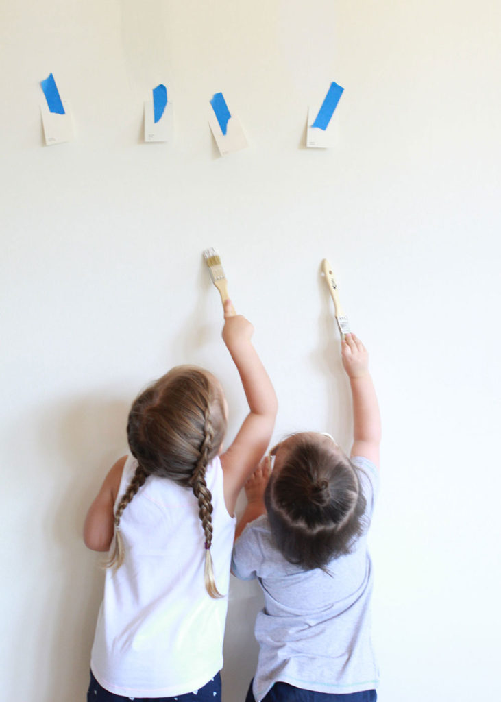 new house update. these little helpers picking paint colors | thelovedesginedlife.com