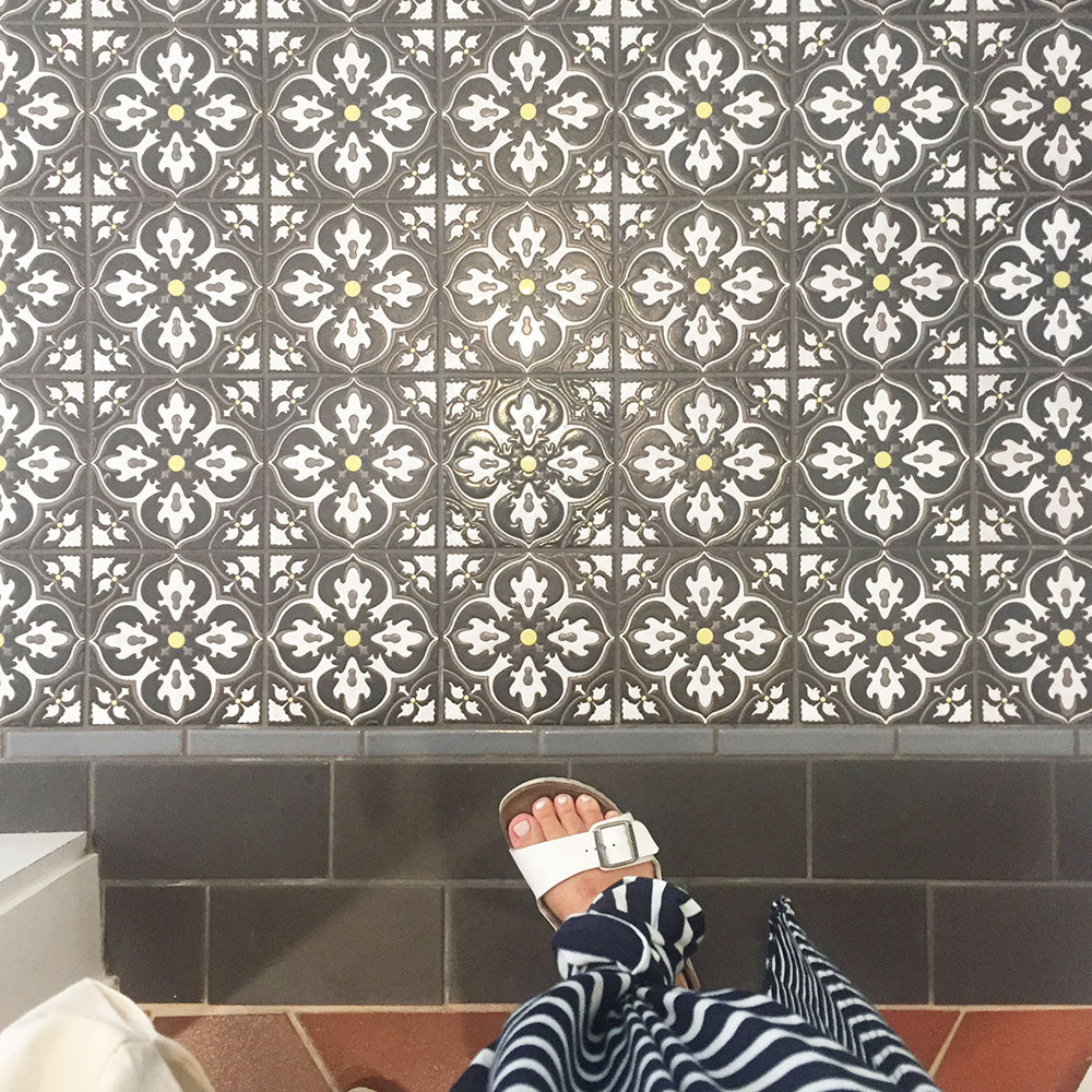 obsessed with these hand painted tiles from the fireclay tile showroom in san francisco | thelovedesignedlife.com