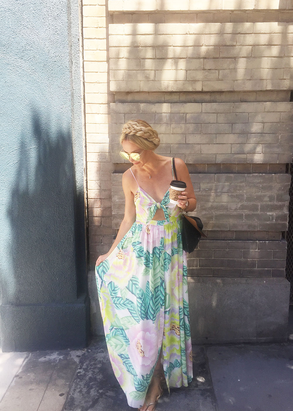 love this pretty floral maxi dress I wore to our park wedding |in san francisco | thelovedesignedlife.com