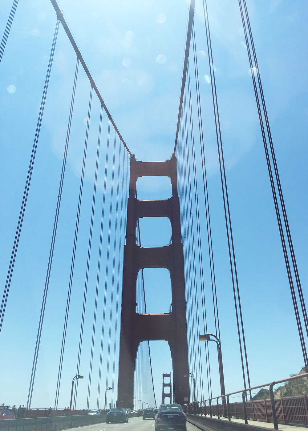 our only shot at the golden gate bridge in san francisco - from the car! | thelovedesignedlife.com