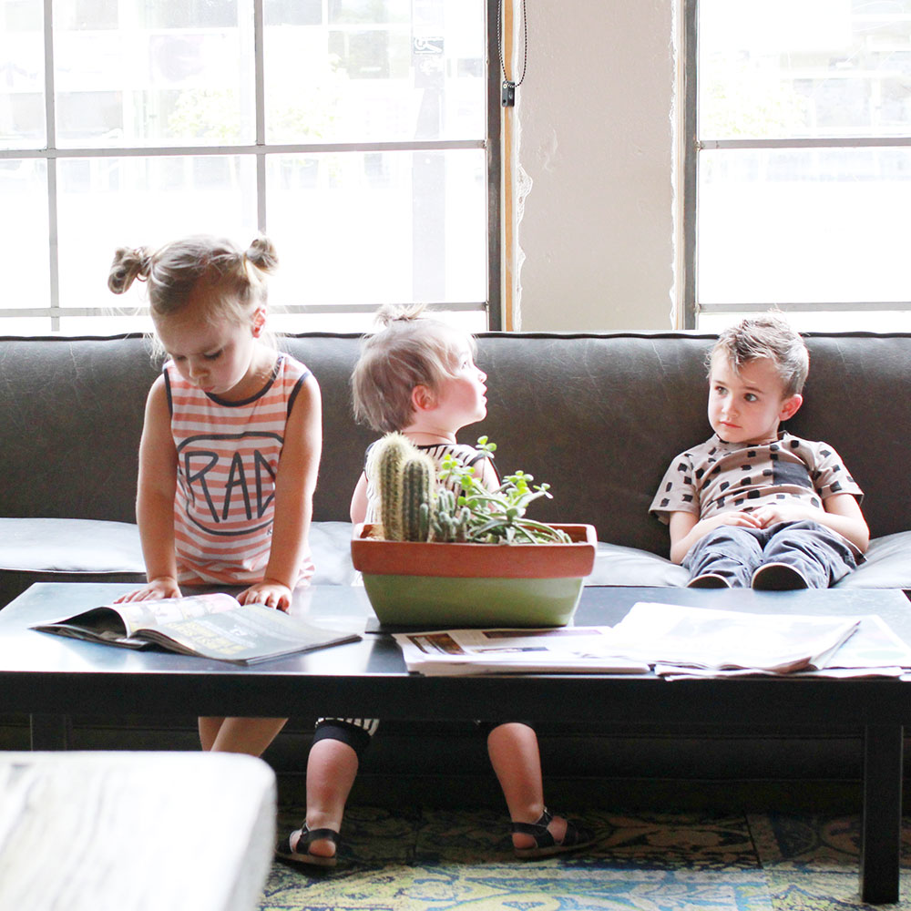 my three babes and their mini style by rags to raches | thelovedsesignedlife.com
