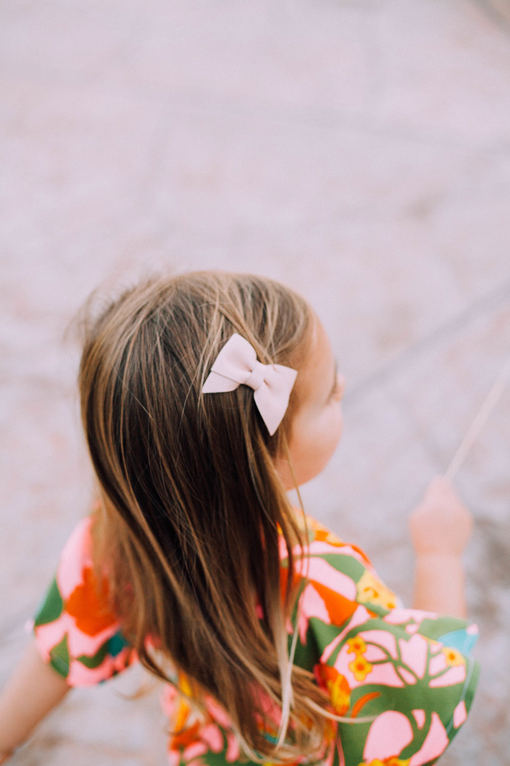 love her sweet spirit and that cute leather hairbow | sweetest mommy and me matching outfits by crew and lu | thelovedesignedlife.com