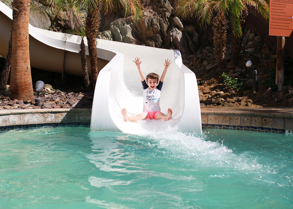 the waterslide at the pointe hilton squaw peak resort | thelovedesignedlife.com