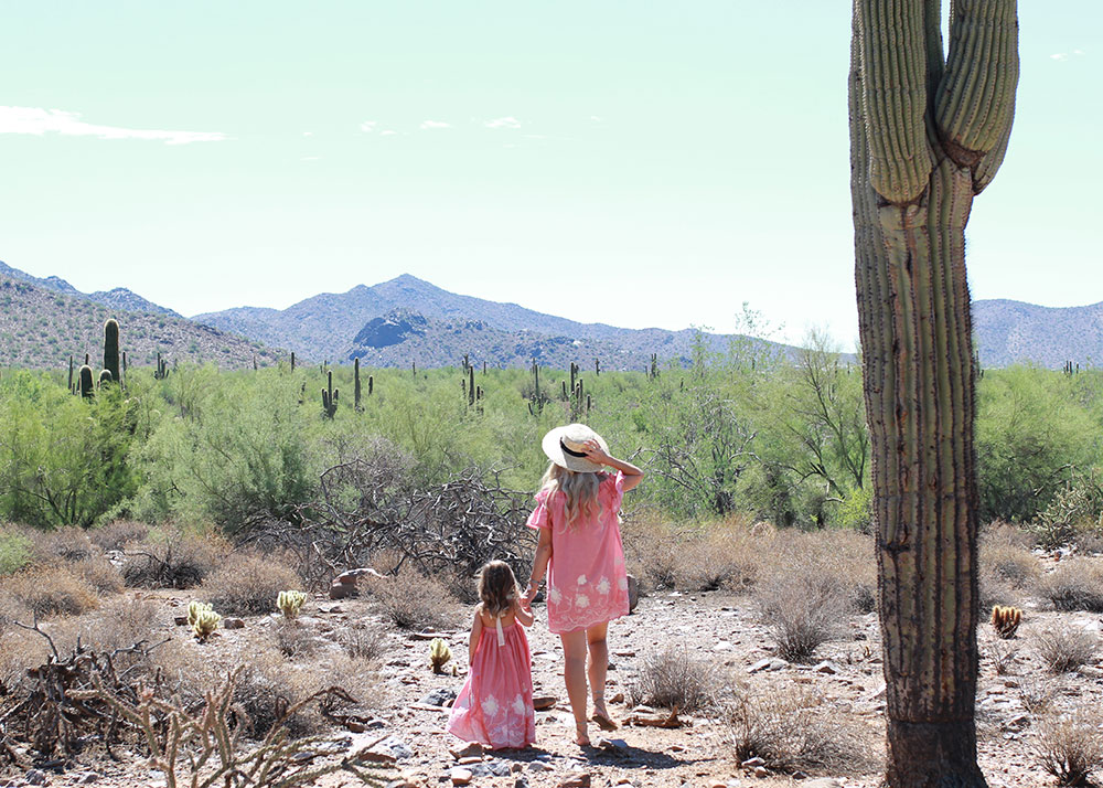just a couple of desert wanderers, wearing the cutest matching dresses for mama and mini! | thelovedesigneldife.com
