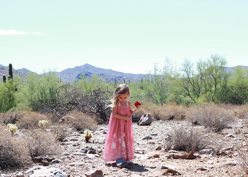 my little desert flower in her maxi dress by ele story | thelovedesignedlife.com