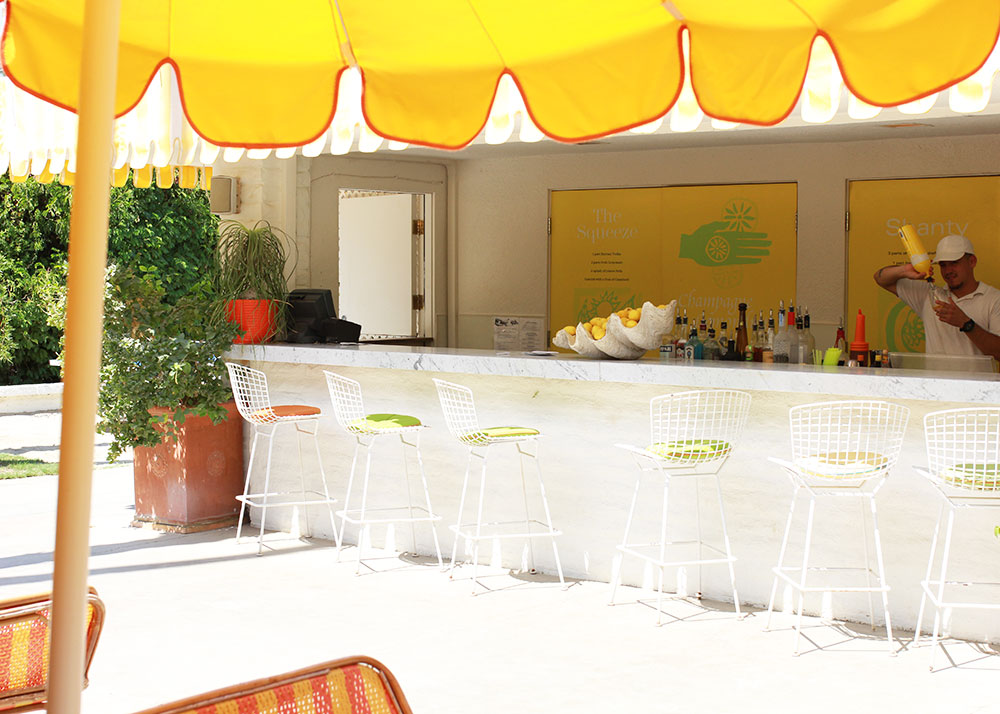 the grown-up lemonade stand at the parker in palm springs | thelovedesignedlife.com