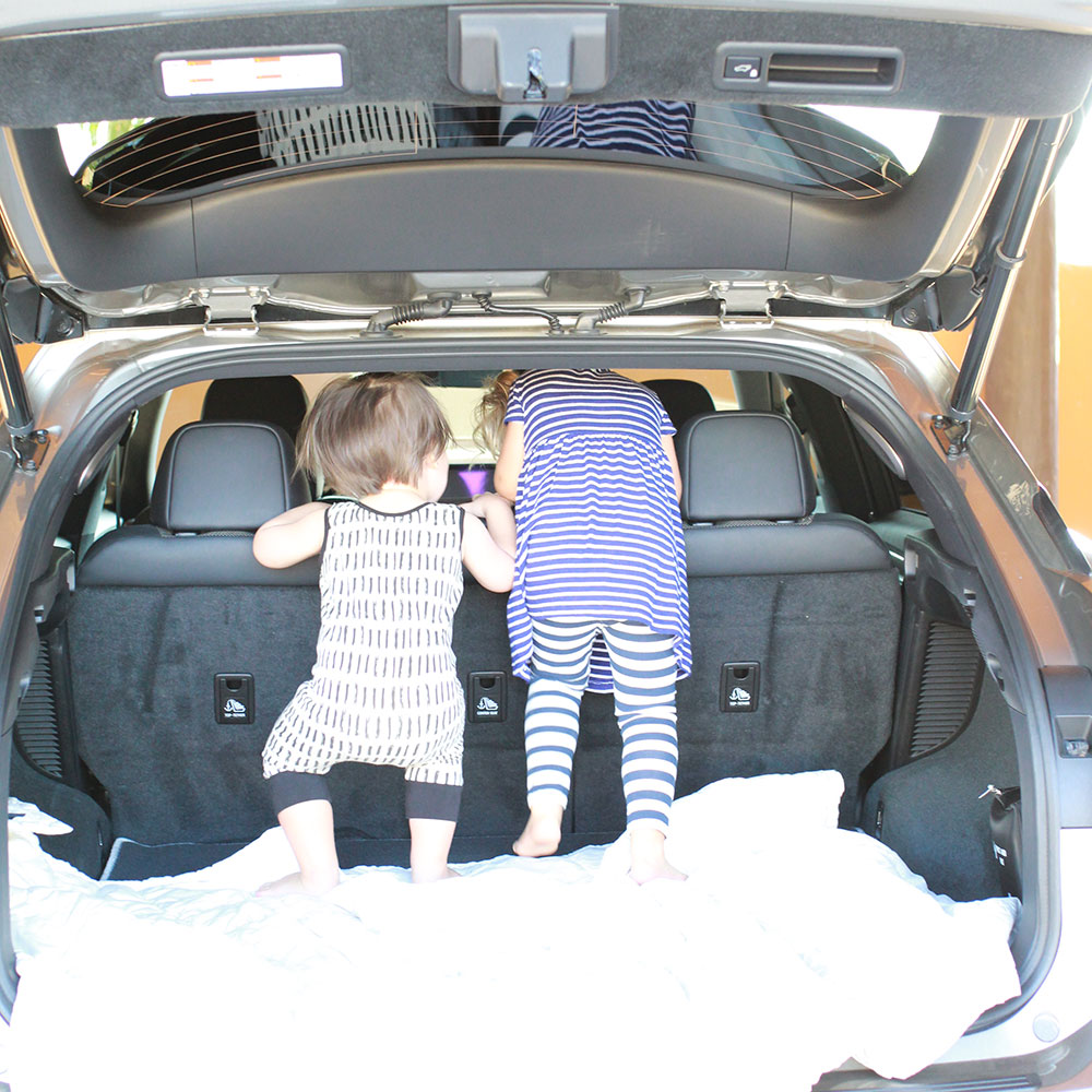 my kiddos checking out this Lexus RX | thelovedsignedlife.com