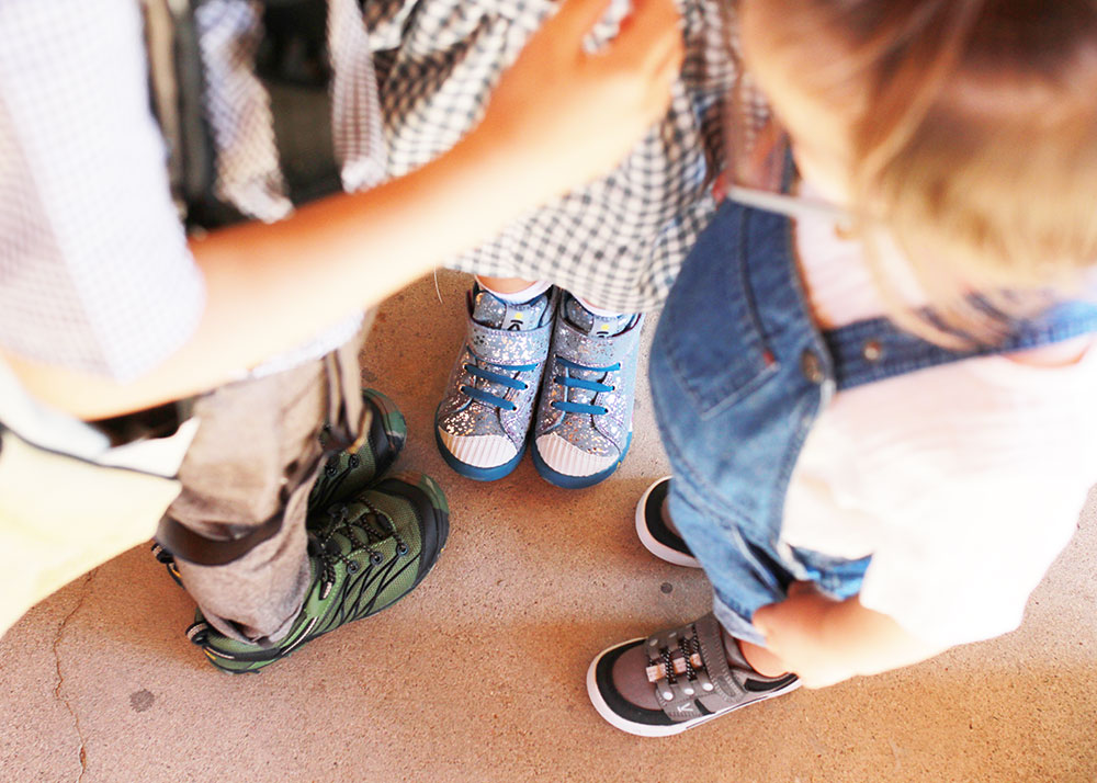 I wonder what these 3 are plotting. back to school style with keen shoes | thelovedesignedlife.com