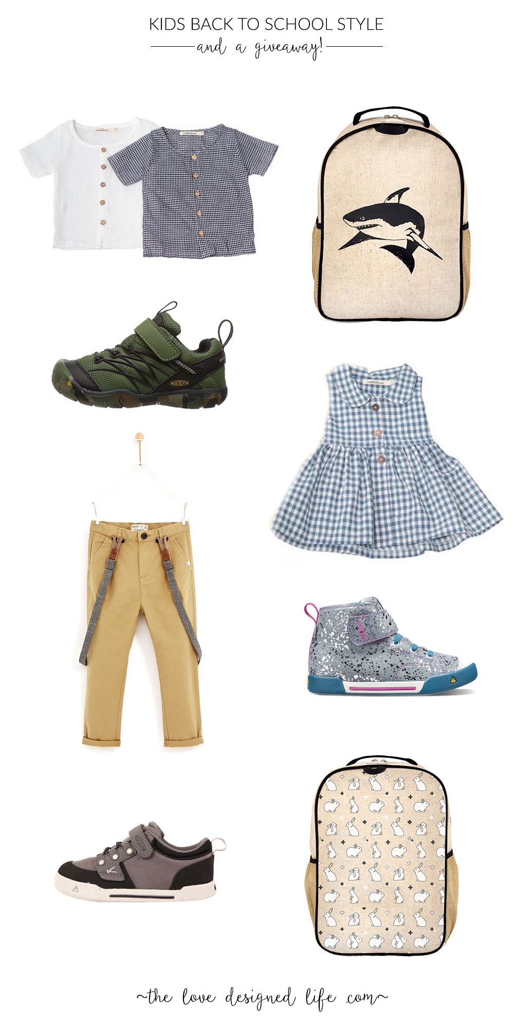 cute neutral kids clothes perfect for back to school style | thelovedesignedlife.com