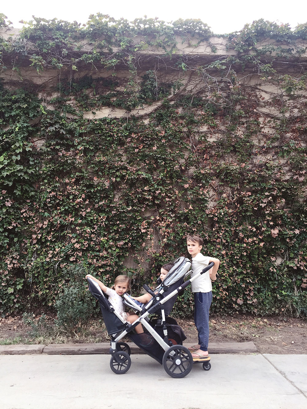 checking out the park in california before our day at disneyland with our favorite uppababy vista stroller | thelovedesignedlife.com